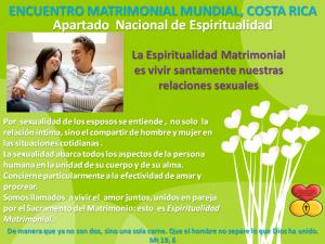 Espiritualidad Matrimonial mes de febrero 2017